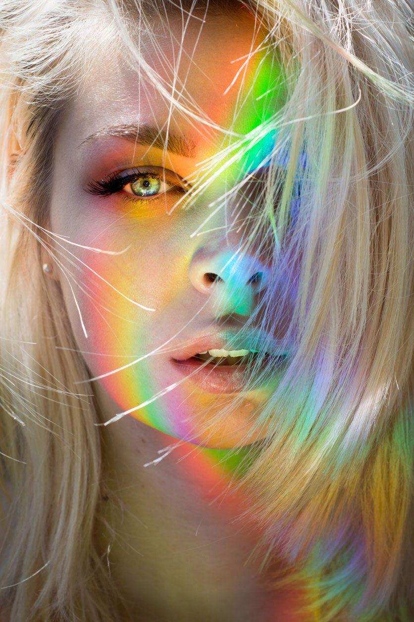 Truco arcoiris con CD para fotografía