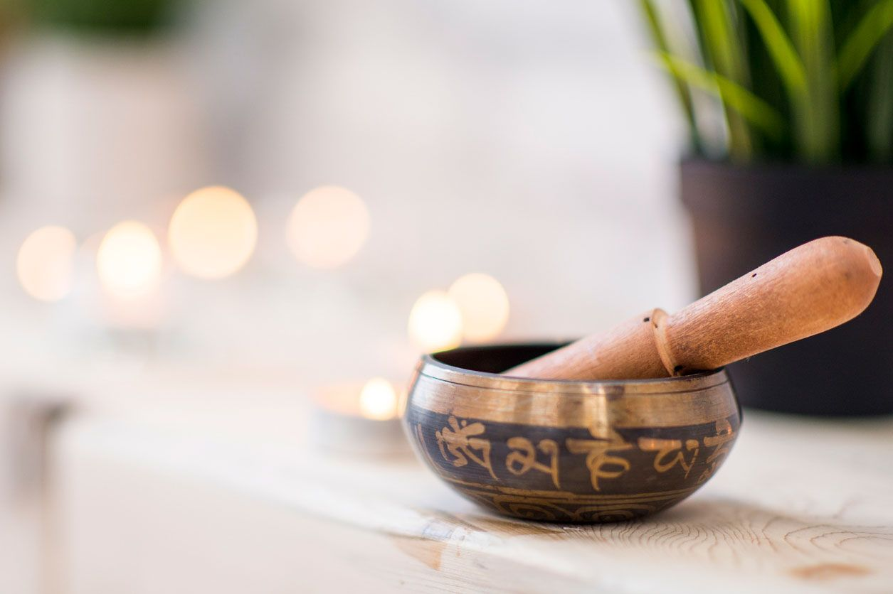 Cuenco tibetano para iniciar la meditación