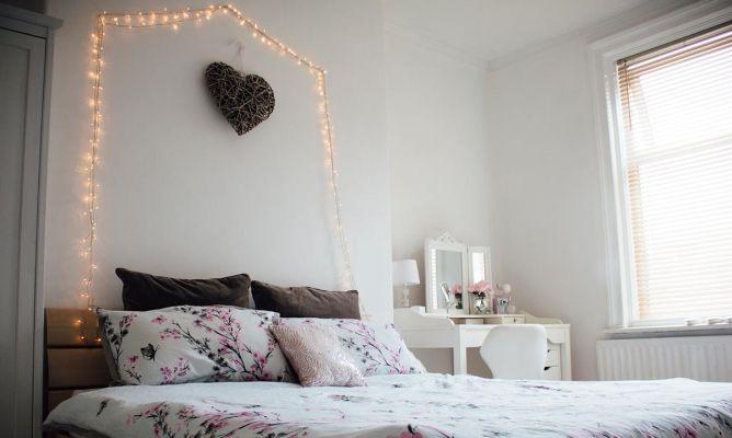 Cómo Decorar El Dormitorio Con Guirnaldas De Luces Hogarmania