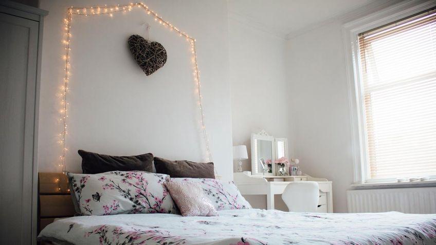 Como Decorar El Dormitorio Con Guirnaldas De Luces Hogarmania - Decoracin-habitacion