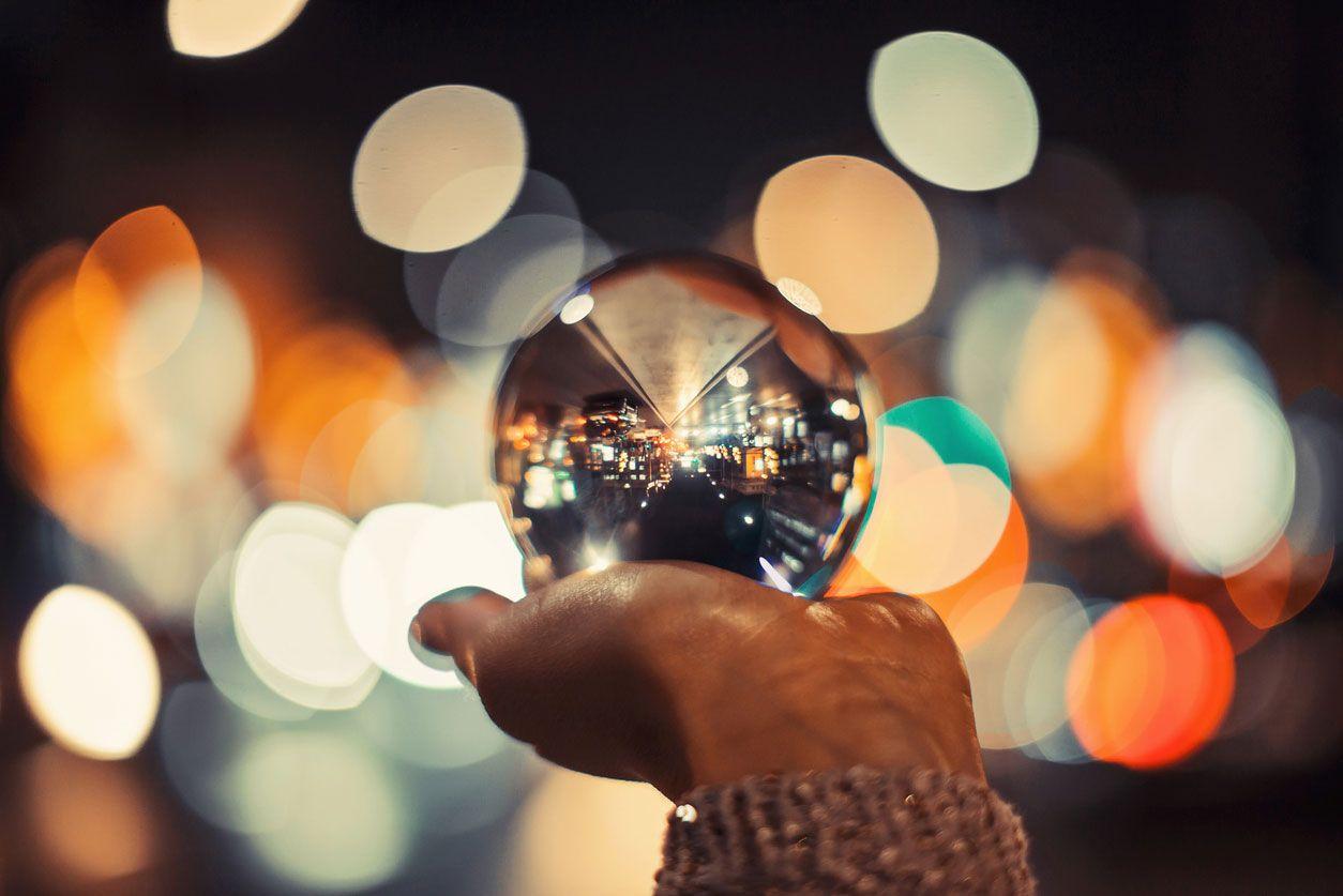 Esfera de cristal para fotografía.