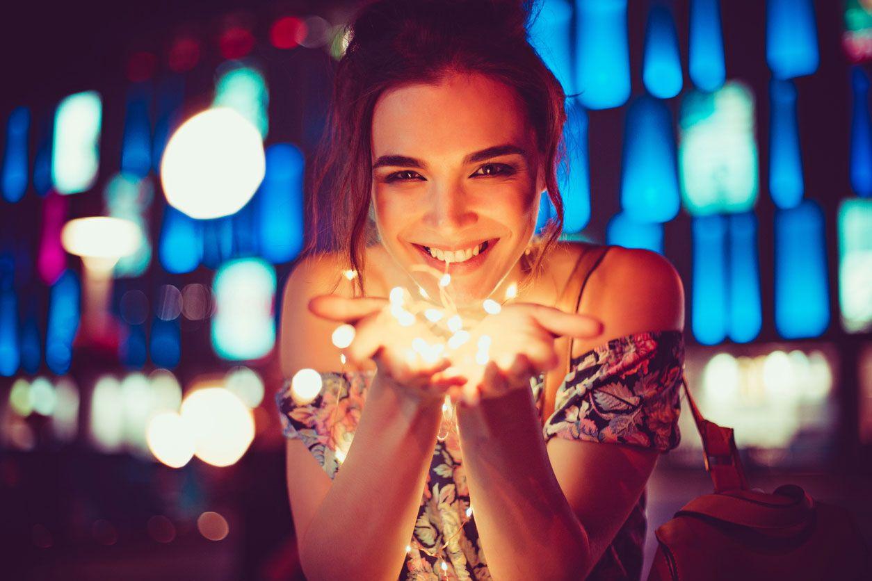 Guirnaldas de led y luces de Navidad para fotografía