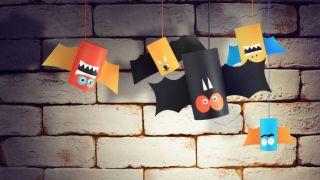Cómo hacer murciélagos de cartulina