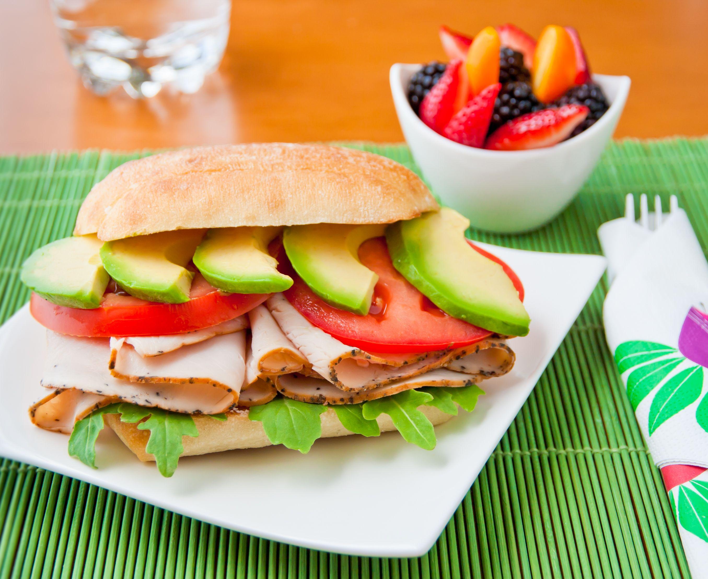 Sándwich vegano.