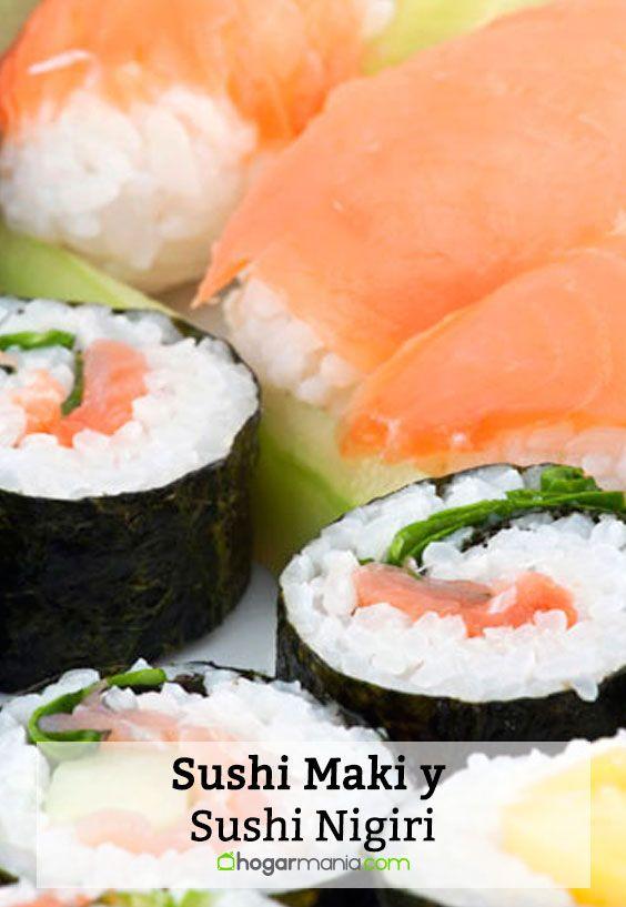 Sushi Maki y Sushi Nigiri.