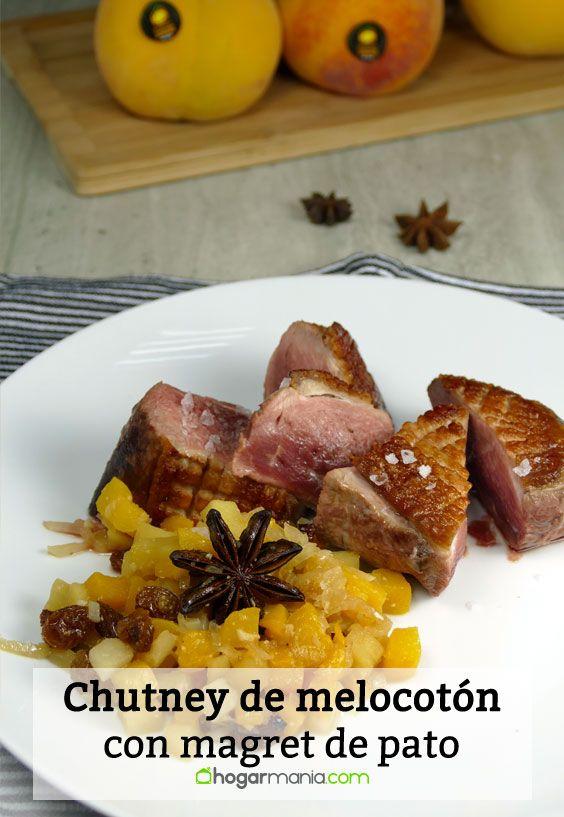 Receta de Chutney de melocotón con magret de pato