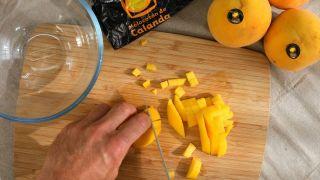 Chutney de melocotón con magret de pato - Paso 1