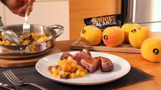 Chutney de melocotón con magret de pato - Paso 4