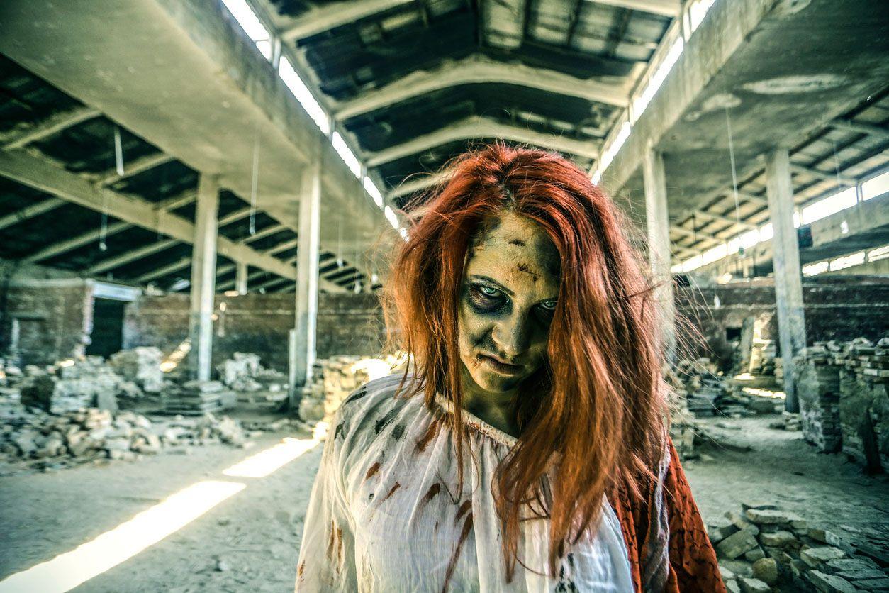 Pintura facial para maquillaje de zombie.