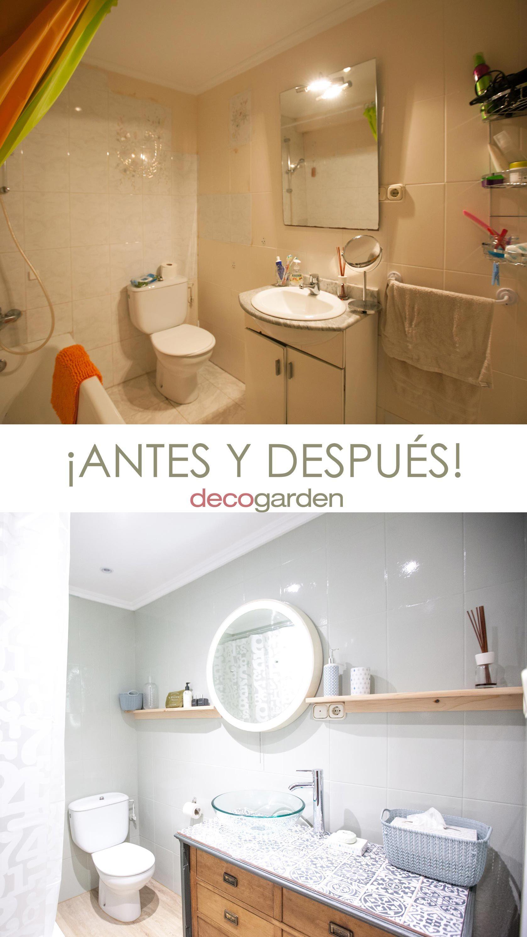 Renovar el aspecto del baño - antes y después