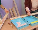 Cubrir pared con tablas de madera, pintura y decoupage - paso 1