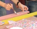 Cubrir pared con tablas de madera, pintura y decoupage - paso 2