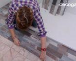 colcoar lamas PVC en suelo de baño (zonas difíciles) - paso 7