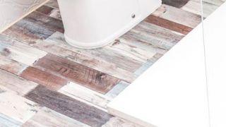 Colocar lamas de PVC en suelo de baño (zonas difíciles)