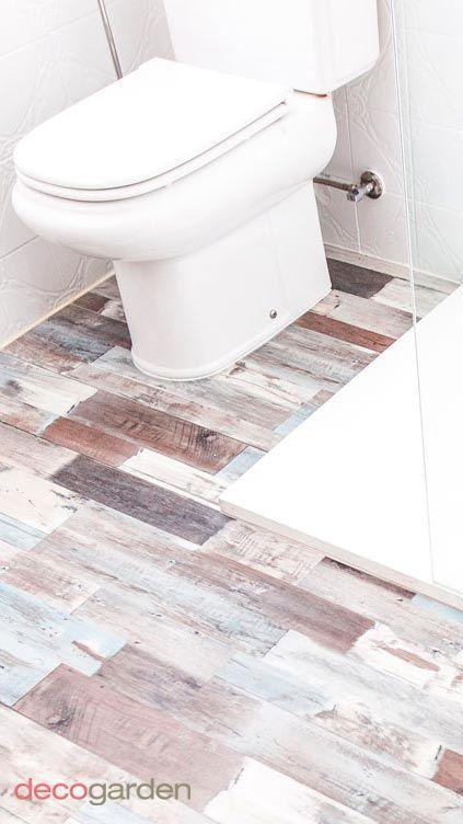 colocar lamas PVC en suelo de baño