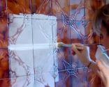 preparar pared de azulejos antes de pintar - juntas