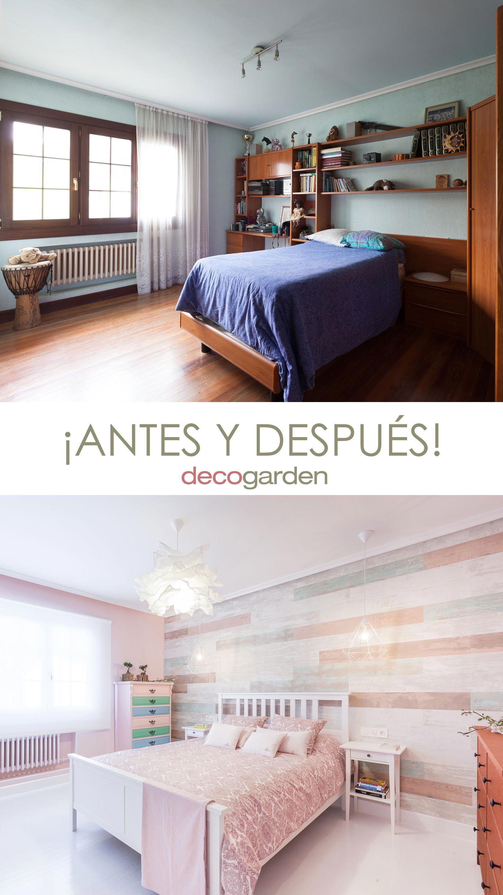 Decorar un dormitorio en tonos rosas - antes y después