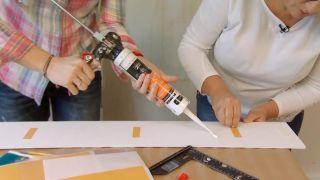 Revestimiento de pared imitación maderas vintage paso 3