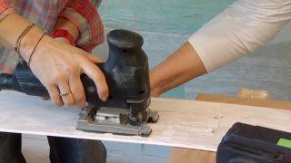 Revestimiento de pared imitación maderas vintage paso 6