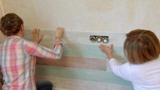Revestimiento de pared imitación maderas vintage paso 7