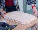 Crear mesilla de noche con barreño de metal - paso 9