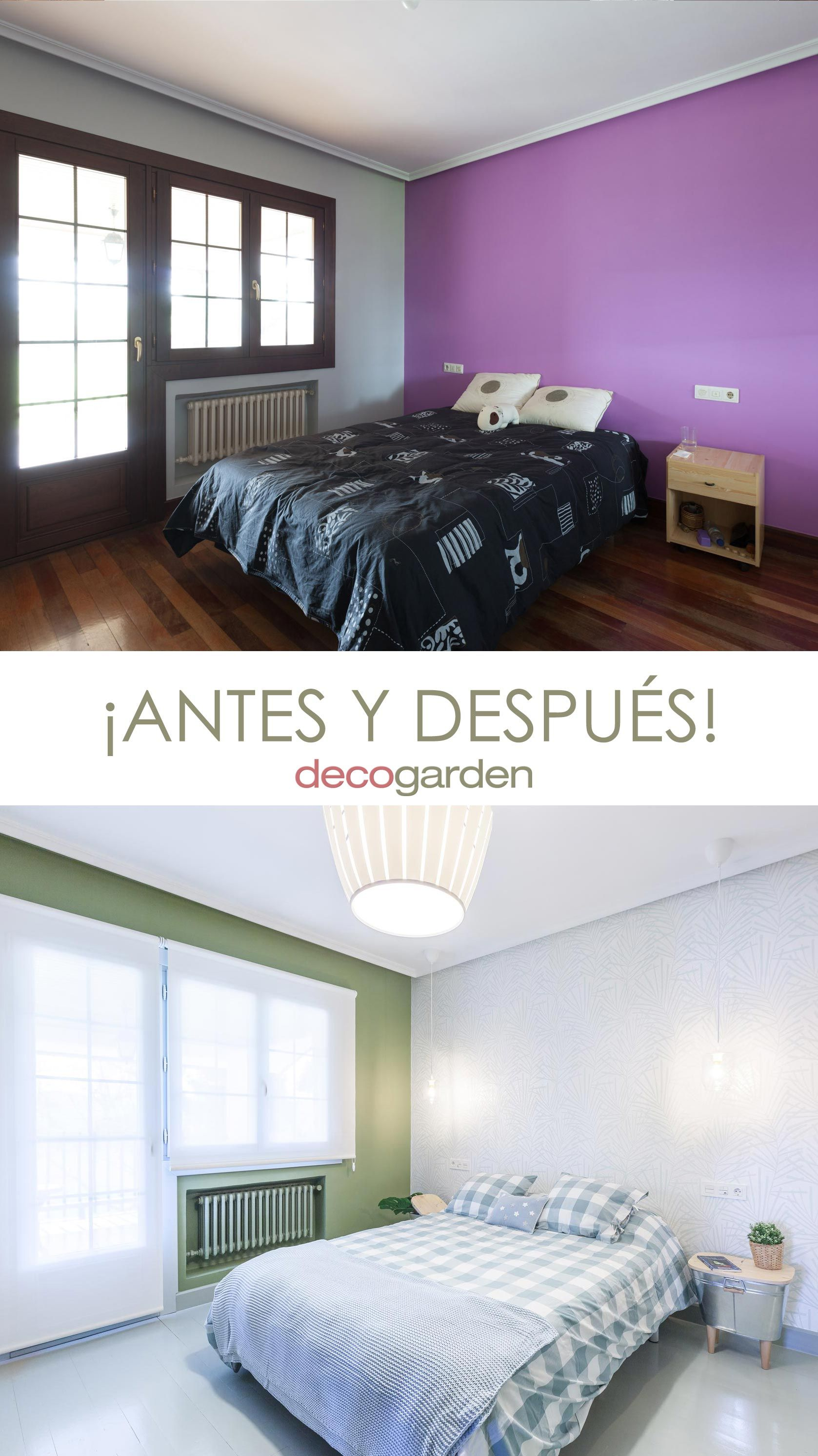 Dormitorio de estilo fresco y natural - antes y después