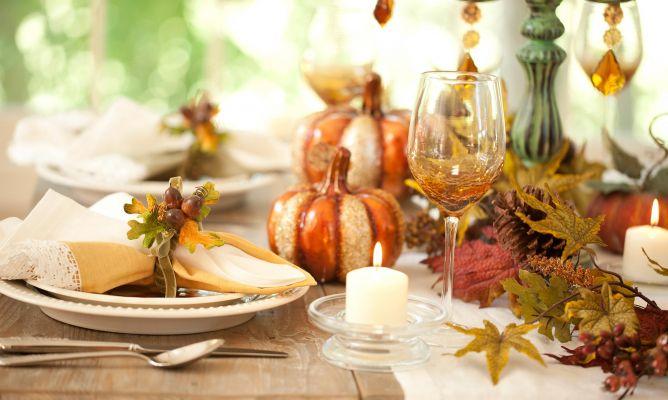 Decoración de otoño para la mesa - Hogarmania