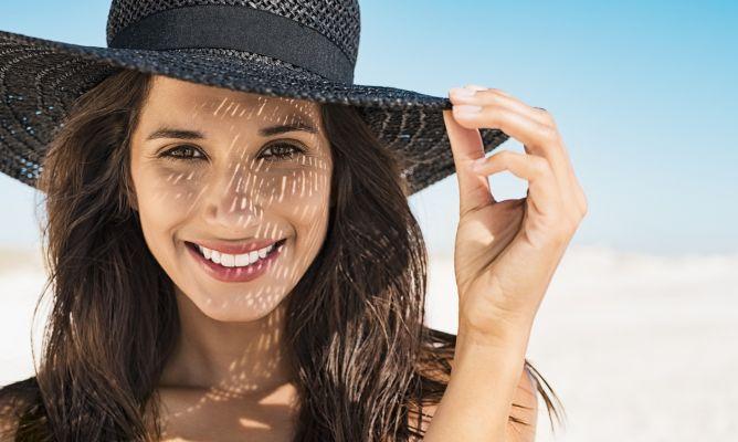 Productos de sol con naturales manchas cara como la en quitar