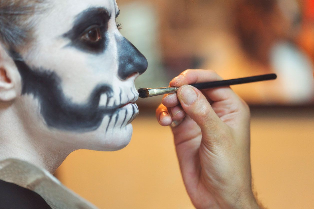 Pintura aquacolor para Halloween.