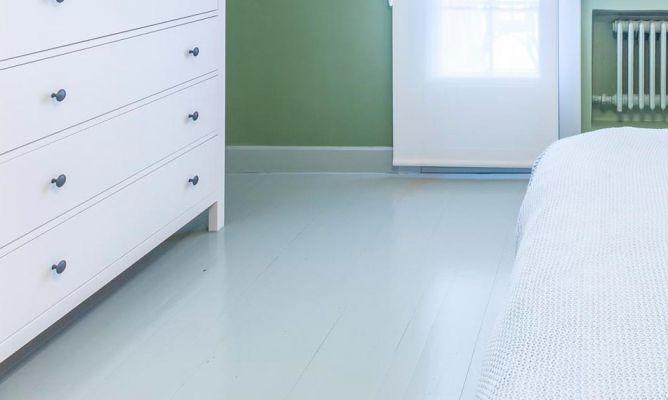Pintar suelo y z calos de madera del dormitorio color verde decogarden - Pintar suelo cocina ...