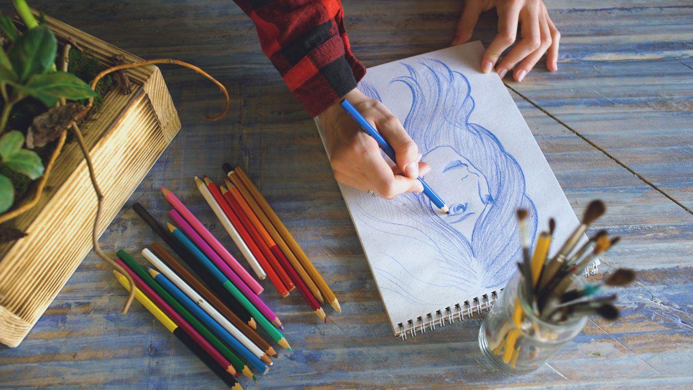 Elegir el material adecuado para dibujar.