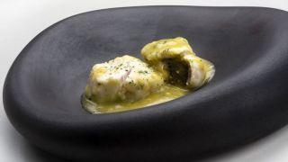 Receta de Tacos de merluza con kokotxas al pil-pil