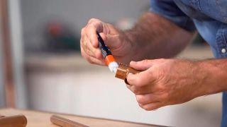Cómo hacer un perchero de cobre - Paso 2