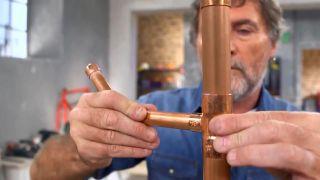 Cómo hacer un perchero de cobre - Paso 3