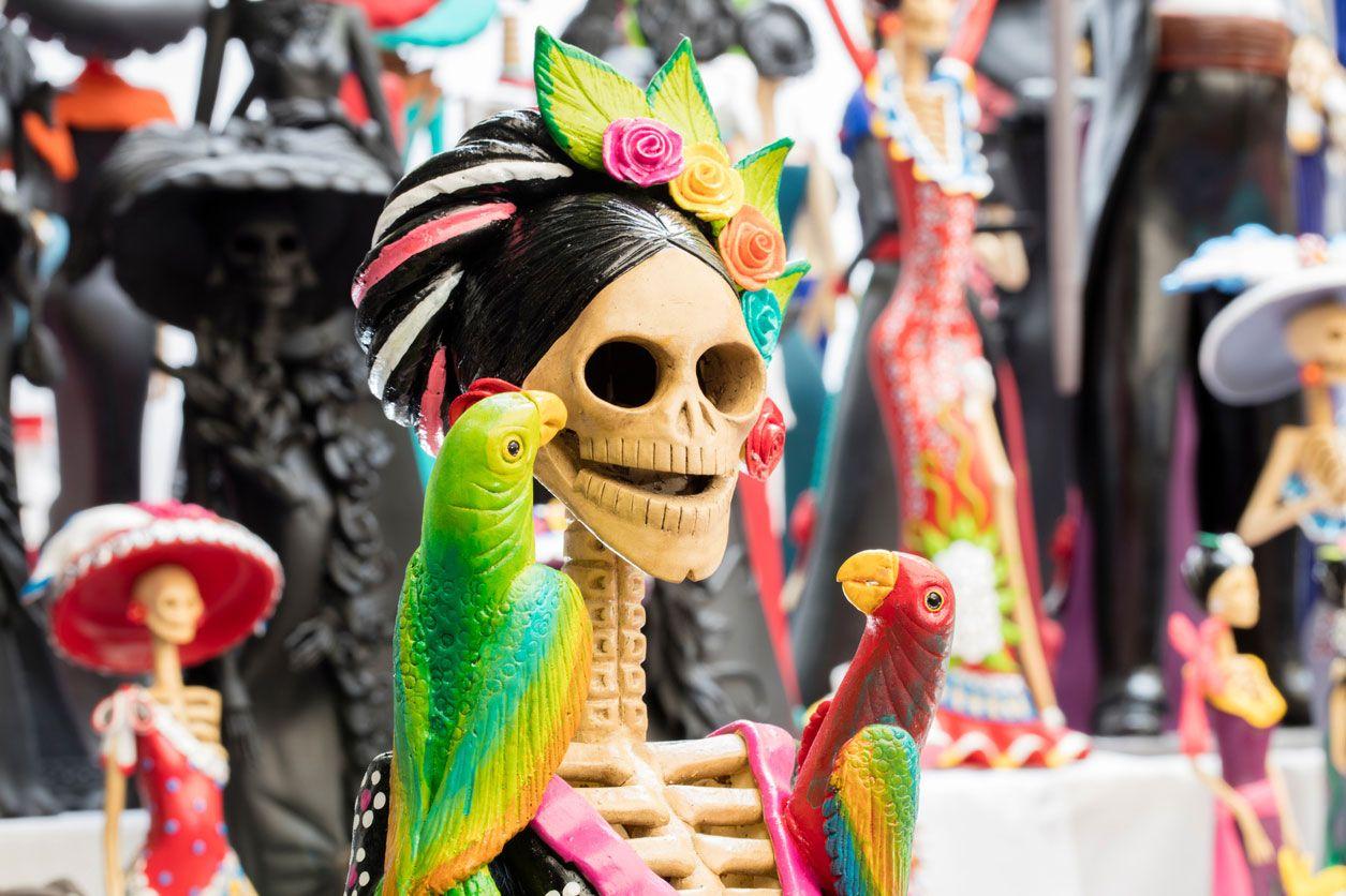 La Catrina, artesanía del día de Muertos.