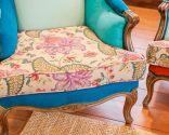 Tapizar sillón orejero con telas colores - paso 8