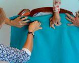 Tapizar sillón orejero con telas colores - paso 3
