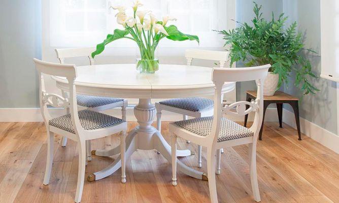 Cómo Pintar Una Mesa De Comedor De Madera En Blanco Hogarmania