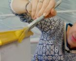 Renovar mesitas de noche con pintura amarilla - paso 4