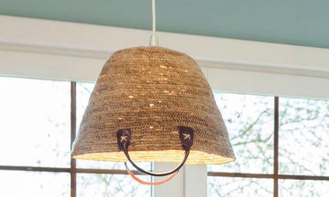 C mo crear l mparas de techo con cestos decogarden - Lamparas originales de techo ...