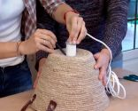 Crear lámparas techo con capazos - paso 1