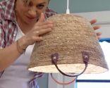 Crear lámparas techo con capazos - paso 6