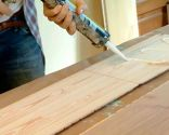 Decorar pared de cocina con friso madera roble - paso 2