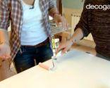 Cómo pintar las puertas del armario de la cocina en blanco - paso 4