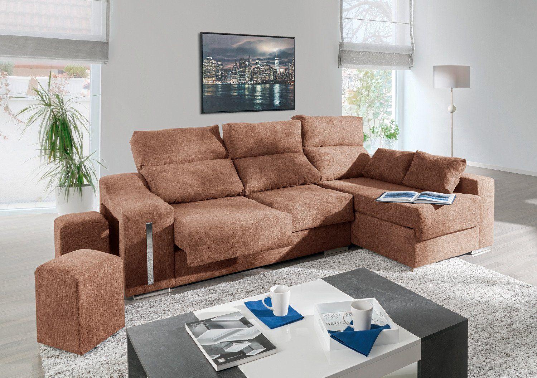 Sofá chaise longue (3 plazas) – Modelo LUCÍA de Conforama