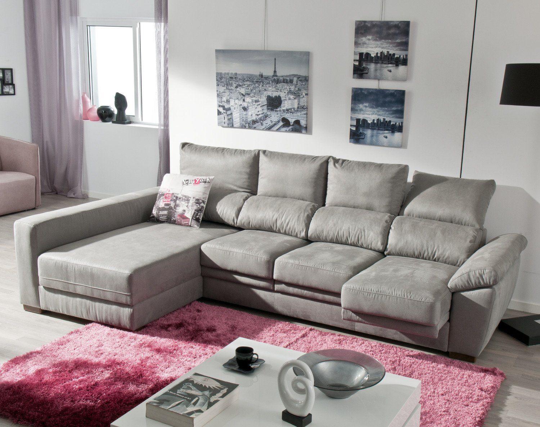 Sofá chaise longue reversible con arcón (4 plazas) – Modelo ARGOS de Conforama