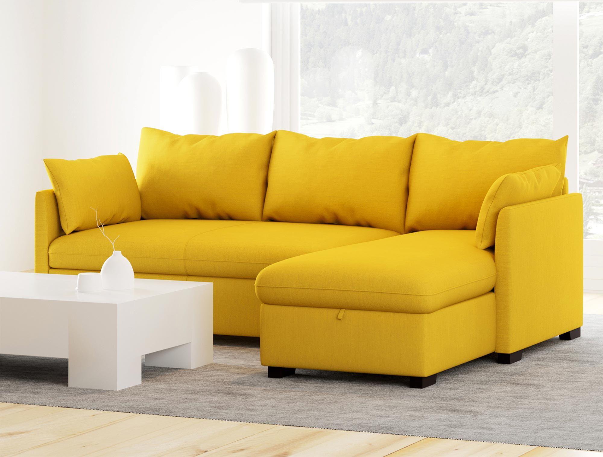 Sofá chaise longue con cama reversible de tela – Modelo COSY de Conforama