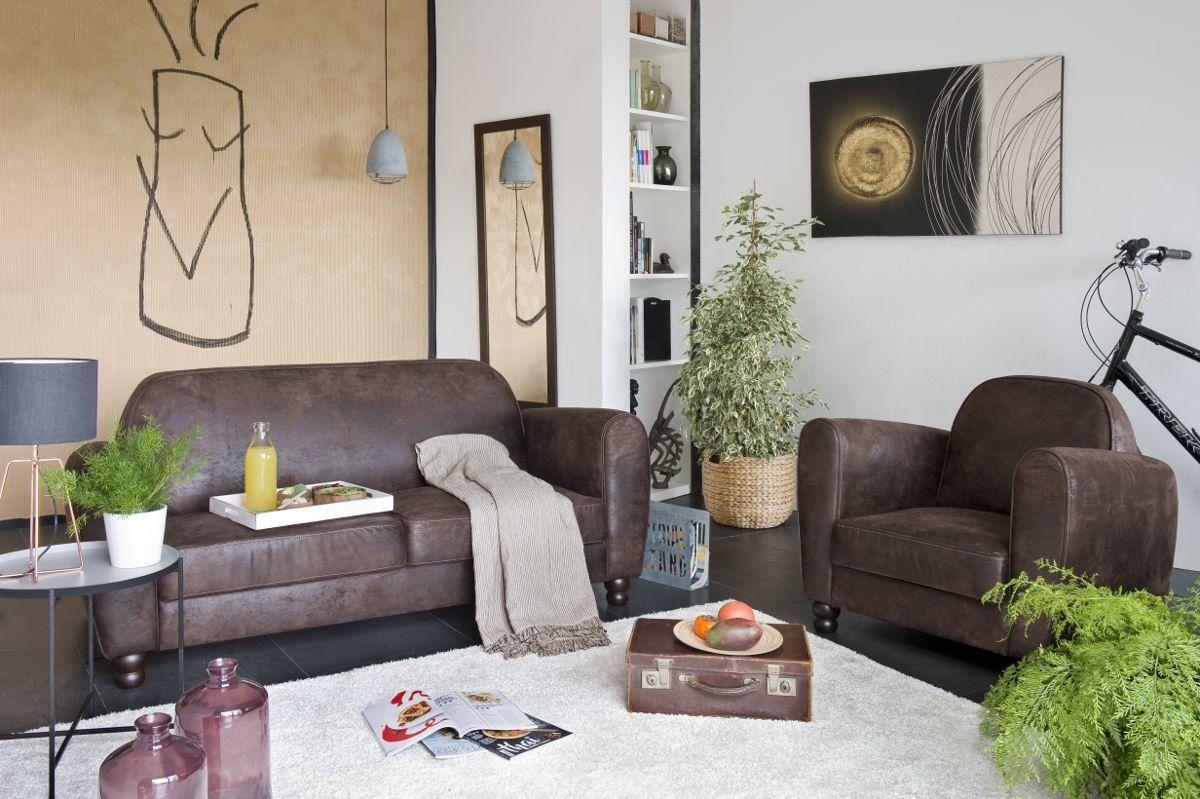 Sofá chaise longue reversible de tela – Modelo CLAMM de Conforama