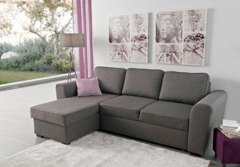 Sofá chaise longue reversible con cama y arcón – Modelo ASTON de Conforama