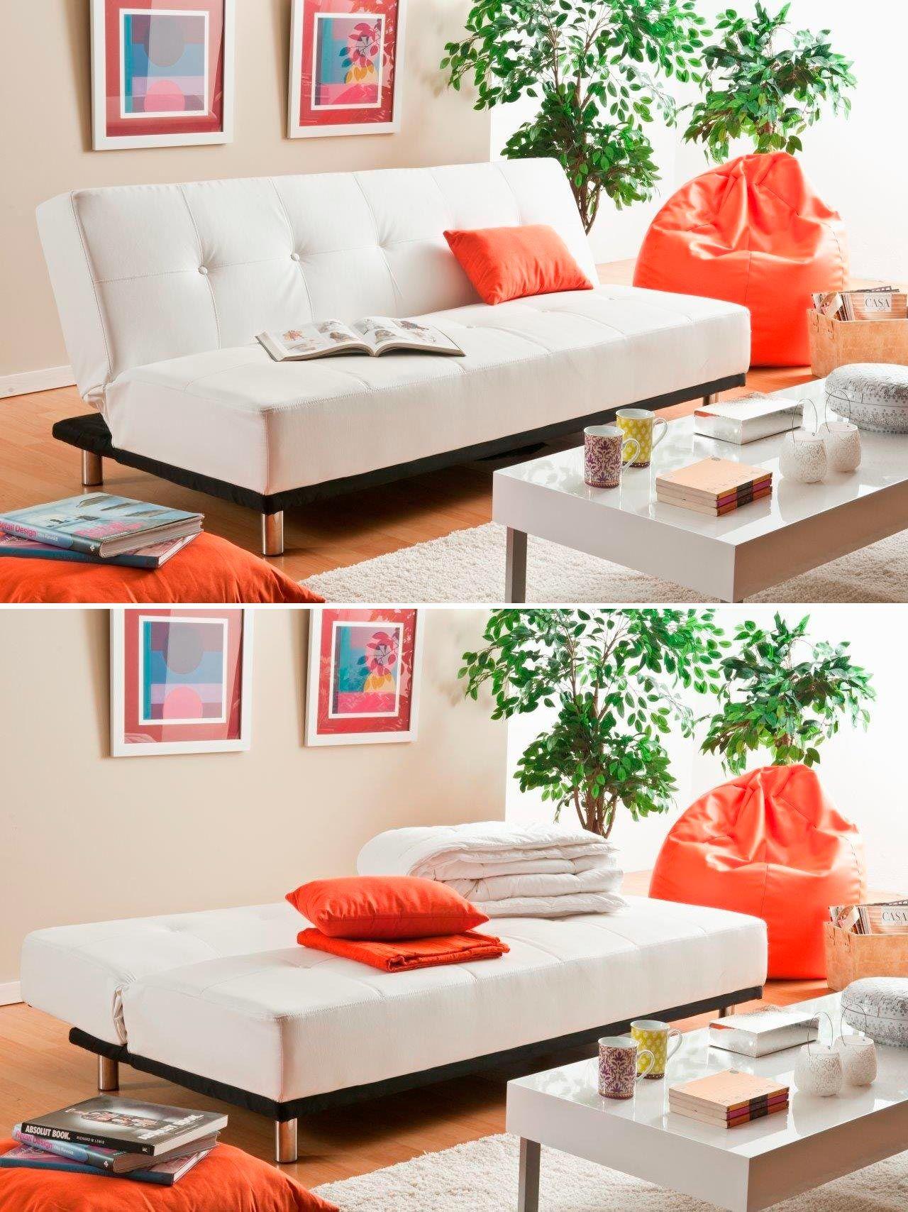 Sofá cama de piel sintética– Modelo THIRD de Conforama